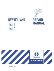 New Holland 1411 1412 Disc Mower conditioner Service Manual