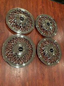 Set Of 1970 1996 Fits Impala Caprice Wire Spoke 15 Hubcaps Wheelcovers
