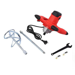 Electric Portable Concrete Mixer Cement Stirrer For Thinset Adjustable 6 Speed
