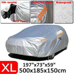 Polyester Car Cover Outdoor Waterproof Snow Dust Heat Resistant Uv Protection Xl Fits 2012 Camaro