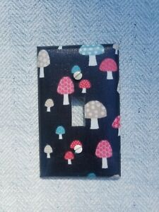 Mushrooms single switch plate cover $6.00