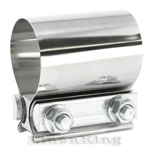 304 Stainless Steel Joint Exhaust Muffler Clamp Band 2 Butt Joint