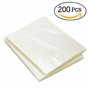 200 Pack Thermal Laminating Pouches 3 Mil Heat Seal A4 Letter Size 9x11 5 Sheets