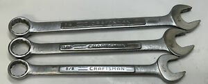 Craftsman 12pt Combination Wrench 3pc Lot 58 34 V Series Usa