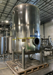 3 000 Gallon 316 Stainless Steel Pressure Vessel Rated 65 Psi Carbon Tower Tank