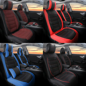 For Toyota Corolla 1990 2021 Leather Car Seat Cover Full Set Front Rear Cushions