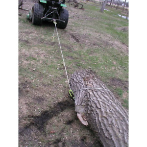 15 Ft Log Choker Cable With Tow Rings Towing Tool For Atvs Utvs Lawn Tractors
