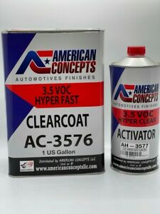 Automotive High Speed Clear Coat Urethane Ac 3576 41 Gallon Clearcoat Kit Fast