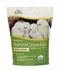 Manna Pro Organic Starter Crumble Complete Feed Made With 19 Protein Usda