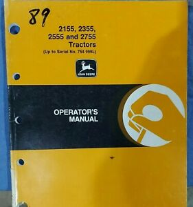 John Deere 2155 2355 2555 2755 Tractor Operator s Manual Oml60034 A7 Issue L0 a7