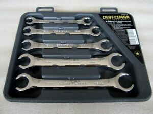 Vintage Craftsman Professional 5pc Metric Flare Nut Wrench Set 42013 Made In Usa
