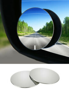 2 Pcs Car Blind Spot Mirror Adjustable Wide Angle 360 Rotation Convex Rear View