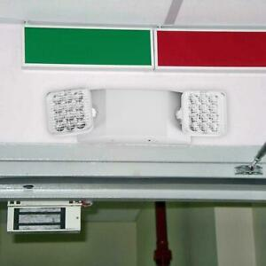 Led Double headed Exit Emergency Sign Light Safety Lighting With Spare Battery
