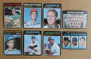 New Listing1971 Topps Baseball High Number 644 752 Card Singles Complete Your Set Pick Cho