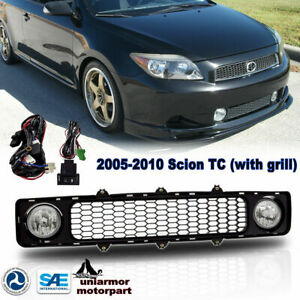 For 2005 2010 Scion Tc Fog Lights Driving Lamps With Bumper Grill Black Clear