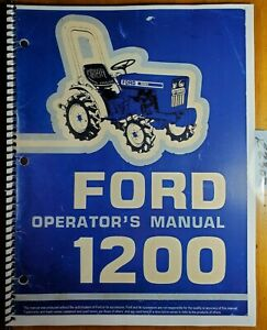 Ford 1200 Tractor 1979 83 Owner s Operator s Manual Se 3973 42120010