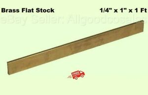 Brass Flat Stock 1 4 X 1 X 1 Ft Alloy 360 Mill 12 Long Solid Rectangle Strip