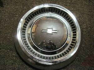 1 Vintage Dog Dish Chevy Hubcap 10 5