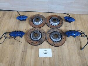 Oem Bmw F80 F83 F82 M3 M4 Front Rear Left Right Brake Calipers Set Brembo Blue