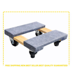 Furniture Dolly Appliance Mover Rolling Wheels Wood 800 Lb Capacity Home Office