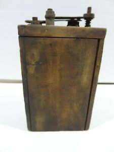 Vintage Antique Ford Model T Model A Wood Wooden Battery Box Ignition Coil