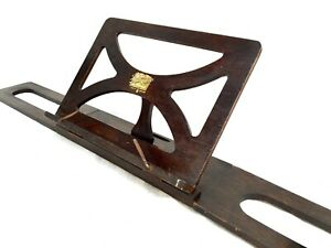 Antique Wooden Collapsable Music Sheet Stand Book Holder Rack The Bershaw