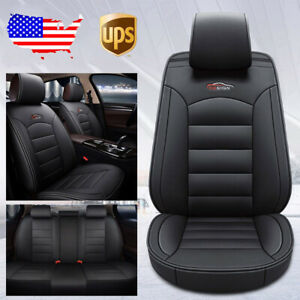 Black Car Suv 5 Seat Pu Leather Seat Covers For Nissan Altima Sentra Rogue Kicks