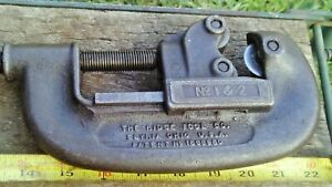 Vintage 16 Long Ridgid No 1 2 Pipe Cutters Cutting Tool Working Fine