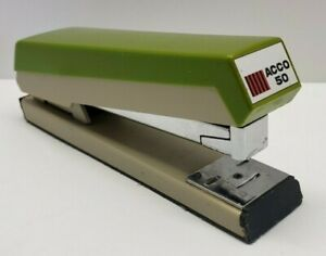 Vintage Acco 50 Desk Stapler Heavy Duty Mid century Usa Made In Chicago Used