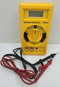 Beckman Industrial Hd100 Multimeter With Leads Tested