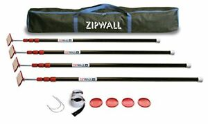 Zipwall Available Zippole 10 Spring loaded Poles For Dust Barriers 4 pack Zp4