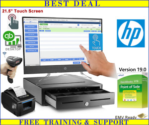 Hp Touch Screen Point Of Sale System With Quickbooks Pos Pro 19 0