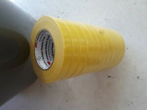 3m 06652 Crepe Paper Automotive Refinish Tape 3 4 Inch Each Roll Yellow
