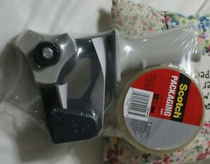 Scotch Packaging Tape With Heavy Duty Tape Dispenser 3350 60 pd New