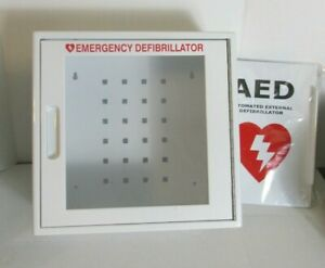 Aed Cabinet Emergency Defibrillator Wall Mounted Case For Zoll Philips Cardiac