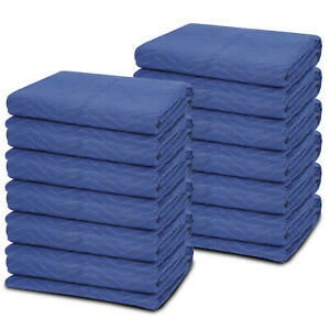 72x80 Heavy Duty Professional Quality Quilted 12 Performance Moving Blankets