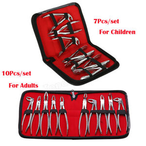 Surgical Dental Extraction Tooth Pliers Set Extracting Forceps For Adults kids