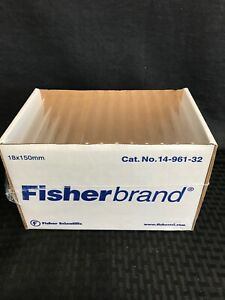 125 Fisherbrand 18 X 150mm Disposable Glass Culture Tubes Round Bottom No Cap