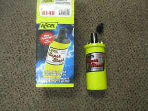 Accel 8140 Yellow Super Stock Performance Ignition Coil New