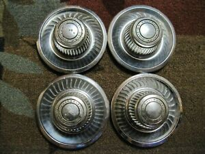 Set Of 4 Vintage Chevrolet Motor Division Chevy Hubcaps 9 5