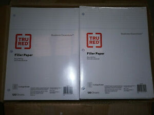 36 Pack True Red College Ruled Filler Paper 8 X 10 1 2 120 Sheets tr37427