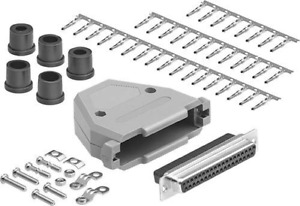 Compucableplususa com Best Db37 Connector Kit Set Db37 Female Crimp Type With P