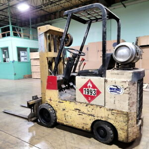 Allis Chambers Forklift 5 000 Lift Cap Heavy Duty Gas Forklift With 9 800 Hrs