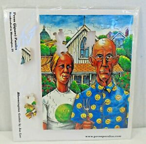 Bloomington Gothic by Joe Lee Press Puzzles Laser Cut Wood Pieces Indiana New $24.95