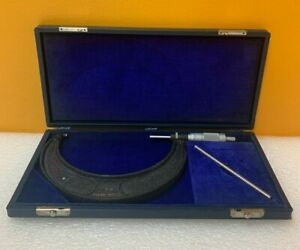Brown Sharpe Qcf057 5 6 Outside Micrometer Case Tested