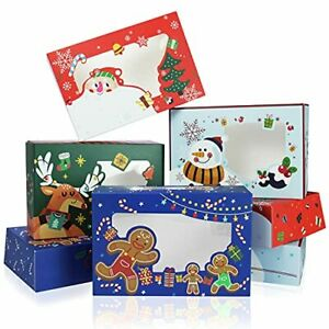 Yotruth Christmas Cookie Box With Window Gift 9x6x2 5 Printed Bakery Boxes 2