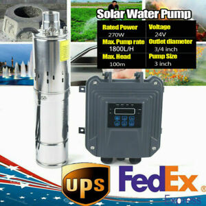 3 Dc24v Deep Well Solar Water Pump Submersible Off grid Mppt Controller 1800l h