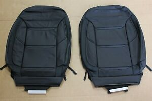 AFTERMARKET Front Seats UPPER Leather Covers BLACK OPS Truck GM 1500 Crew Cab $125.10