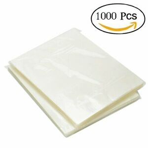 1000pack Thermal Laminating Pouches 3 Mil Heat Seal A4 Letter Size 9x11 5 Sheets