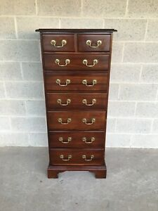 High Quality Chippendale Style Mahogany 7 Drawer Lingerie Chest
